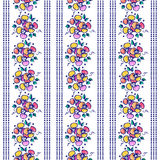 Seamless vector hand drawn floral pattern. Colorful Background with flowers, leaves. Decorative cute graphic line drawing illustra Stock Photography
