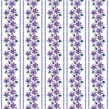 Seamless vector hand drawn floral pattern. Colorful Background with flowers, leaves. Decorative cute graphic line drawing illustra Stock Photo