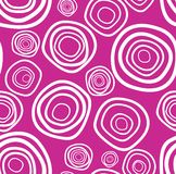 Seamless vector handdrawn purple circle texture. (background Stock Image