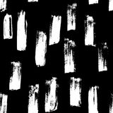 Seamless vector handmade abstract brush strokes background. Ink grunge pattern Stock Photo