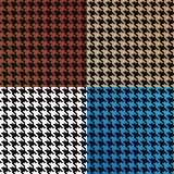 Seamless Vector Houndstooth Pattern. Trendy houndstooth patterns made out of tiny squares in a variety of different colors that tile seamlessly as a pattern Stock Images