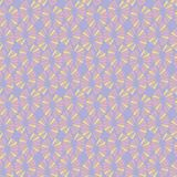 Seamless vector ice cream pattern with retro flowers. For fabric, textile, wrapping, craft Royalty Free Stock Photos