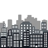 Seamless vector illustration of city. In flat style Royalty Free Stock Images