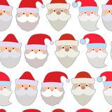 Seamless vector illustration of the faces of Santa Royalty Free Stock Photo