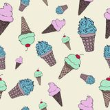 Seamless vector illustration with ice cream. Seamless vector illustration with ice cream that can be used in photoshop as a pattern, or seamless fill. They can vector illustration