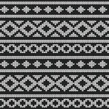Seamless vector knitted pattern Stock Photography