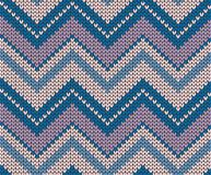 Seamless vector knitted texture Royalty Free Stock Photo