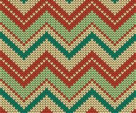 Seamless vector knitted texture Stock Photography