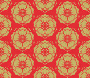 Seamless vector korean pattern Royalty Free Stock Photo