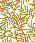 Seamless vector leaves background-pattern Royalty Free Stock Images