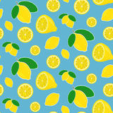 Seamless vector lemon pattern Royalty Free Stock Photos