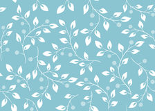Seamless vector light blue floral texture Stock Images