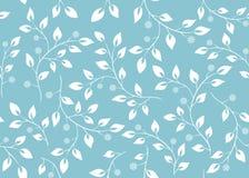 Seamless vector light blue floral texture stock illustration