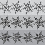 Seamless vector line patterns with hand drawn ornamental doodle Royalty Free Stock Photos