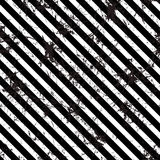 Seamless vector lined pattern. Creative geometric black and white background with diagonal lines. Royalty Free Stock Photo