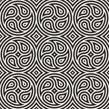 Seamless vector lines pattern geometric background. Geometric lines lattice. Rounded repeating abstract design elements. vector illustration