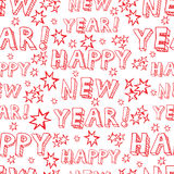 Seamless vector New Year pattern Stock Photography