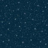 Seamless vector night sky Royalty Free Stock Photography