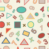 Seamless vector of numbers and geometric Stock Photography