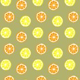 Seamless vector of orange and lemon pattern and background. Citrus vector illustration royalty free illustration