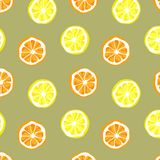 Seamless vector of orange and lemon pattern and background royalty free illustration