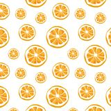 Seamless vector of orange pattern and background. Citrus vector illustration royalty free stock photos