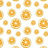 Seamless vector of orange pattern and background vector illustration