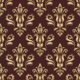 Seamless Vector Oriental Pattern With 3D Elements Stock Photos