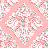 Seamless Vector Oriental Pattern With 3D Elements Stock Image