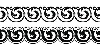 Ancient Greek ornament. Seamless vector ornament in the Art Nouveau style based on ancient Greek elements royalty free illustration