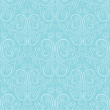 Seamless vector ornament on a blue background Royalty Free Stock Photography