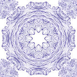 Seamless vector ornament pattern with circles Royalty Free Stock Images