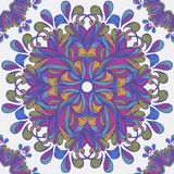 Seamless vector ornament pattern with circles Royalty Free Stock Photo