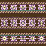 Seamless vector ornamental pattern with stylized flowers. Used for scrap booking, greeting card, wrapping paper, wallpaper Stock Images