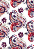 Seamless vector paisley background design Stock Photography