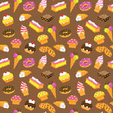 Seamless vector pastry cake Royalty Free Stock Photo