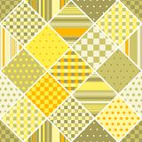 Seamless vector patchwork pattern from different geometric patches Royalty Free Stock Photos