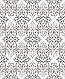 Seamless vector pattern. Seamless pattern from black flowers and leaves(can be repeated and scaled in any size Stock Photo