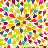 Seamless vector pattern. Bright seamless vector pattern with multicolor drops Royalty Free Stock Images