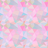 Seamless vector pattern. Abstract background with colorful triangles Royalty Free Stock Photo
