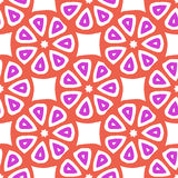 Seamless vector pattern with abstract citrus fruit slices Royalty Free Stock Photos