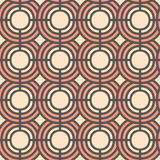Seamless vector pattern with abstract geometric circles. Background for dress, manufacturing, wallpapers, prints, gift wrap and sc Stock Images