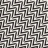 Seamless vector pattern. Abstract geometric lattice background. Rhythmic zigzag structure. Monochrome texture with Stock Photos