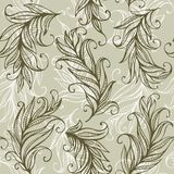 Seamless vector pattern with amazing feathers and Stock Image
