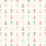 Seamless vector pattern of anchor shapes. Endless Stock Image