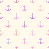 Seamless vector pattern with anchors. Seamless vector pattern with cute anchors Royalty Free Stock Image
