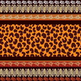 Seamless vector pattern with animal prints. Royalty Free Stock Images