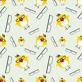 Seamless vector pattern with animals Stock Image