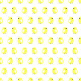 Seamless vector pattern with animals, cute symmetrical background with chiсkens, over light backdrop Royalty Free Stock Images