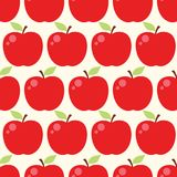 Seamless vector pattern with apple. S Royalty Free Stock Photos